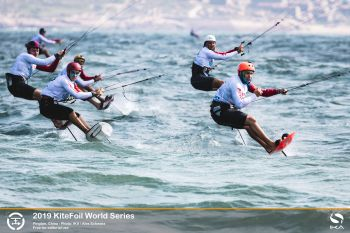 Slovenian tour leader hits top in day of drama at KiteFoil World Series' China stop