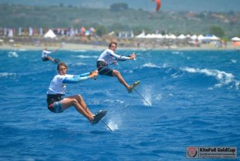Gusty Winds and Tough Conditions Test Racers' Mettle at KiteFoil World Championships Act 1