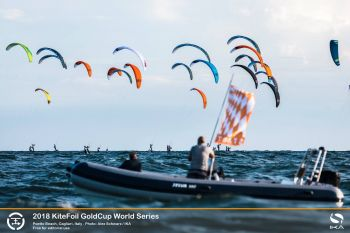 KiteFoil Final in Sardinia Draws Big Surge in Number of Youth Racers