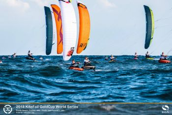 French Duo Battle at Opening of KiteFoil World Series in Tricky Conditions in Sardinia