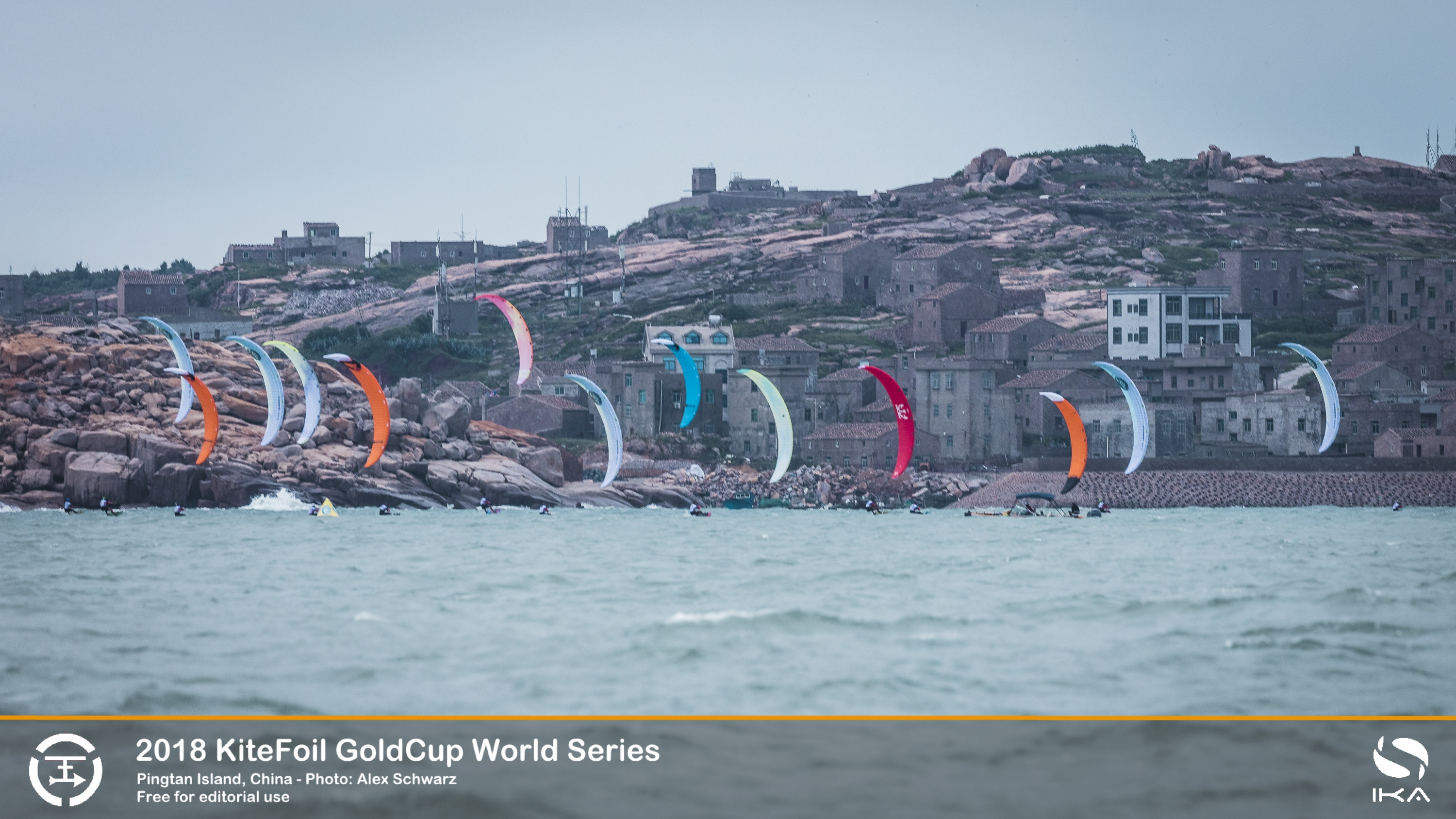 French Pair Mount Strong Challenge in Tough Conditions at China KiteFoil Tour Stop